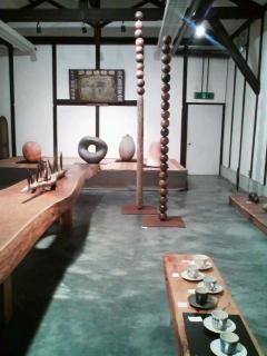 陶芸展と、スイカ&ライム。