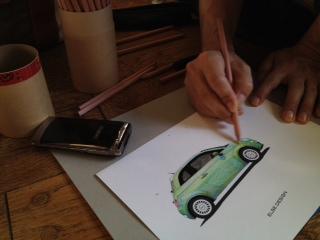ぬりえであそぼう♪  Automobile Art 展